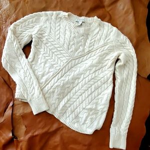Forever 21 Asymmetrical Cable Knit Sweater